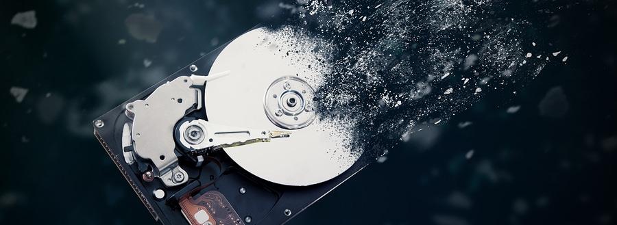 Destruction of hard drive