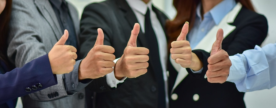 Thumbs Up Business People