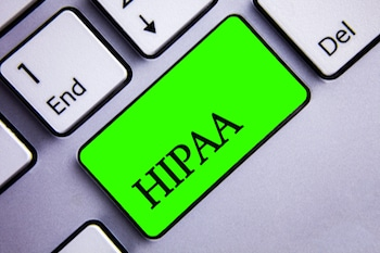 Handwriting text writing Hipaa. Concept meaning Health Insurance Portability and Accountability Act Healthcare Law Keyboard green key Intention create text computer paper essay inspiration